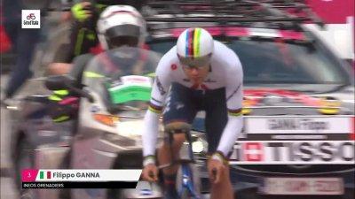 Tour d'Italie 2021 : Filippo Ganna remporte la première étape à Turin