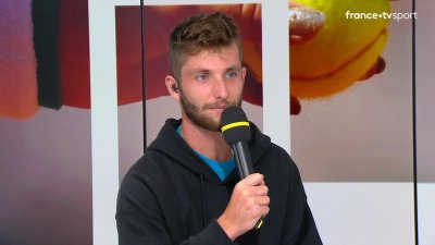 La réaction de Corentin Moutet en direct, au lendemain de son match historique