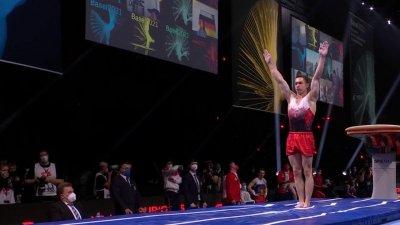 Championnats d'Europe de gymnastique artistique : le Turc Ahmet Onder en difficulté au saut de cheval