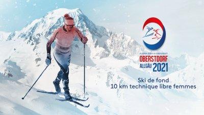 Ski de fond : 10 km technique libre femmes