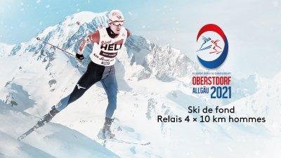 Ski de fond : relais 4 × 10 km hommes