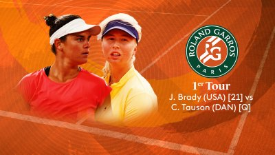 J. Brady (USA) [21] vs C. Tauson (DAN) - 1er tour - Court Simonne-Mathieu