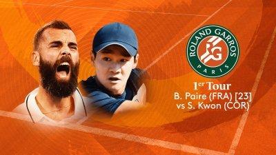 B. Paire (FRA) vs S. Kwon (COR) - 1er tour - Court Simonne-Mathieu