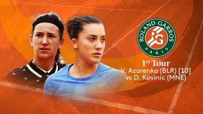 V. Azarenka (BLR) vs D. Kovinic (MNE) - 1er tour - Court Suzanne-Lenglen