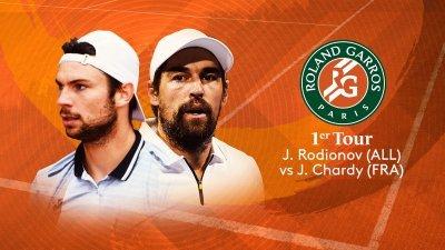 J.Rodionov (AUT) vs J.Chardy (FRA) - 1er tour - Court Suzanne-Lenglen