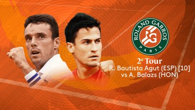 R. Bautista Agut (ESP) vs A. Balazs (HUN) - 2e tour - Court n°14