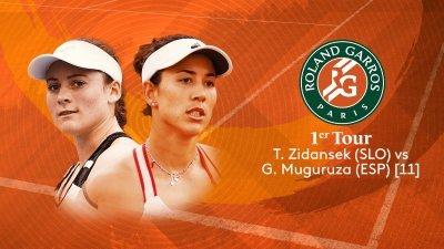T. Zidansek (SLO) vs G. Muguruza (ESP) - 1er tour - Court Simonne Mathieu