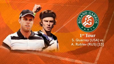S. Querrey (USA) vs A. Rublev (RUS) [13] - 1er tour - Court Simonne-Mathieu