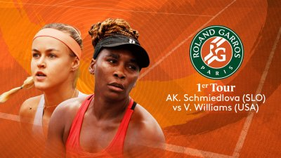 AK. Schmiedlova (SLO) vs V. Williams (USA) - 1er tour - Court Simonne-Mathieu