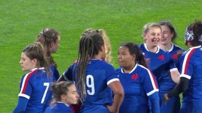 6 Nations féminin : La France débute idéalement en laminant le pays de Galles 53 à 0