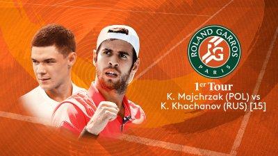 K. Majchrzak (POL) vs K. Khachanov (RUS) - 1er tour - Court Simonne Mathieu