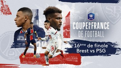 16e de finale de Coupe de France - Brest vs PSG