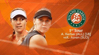 A. Kerber (GER) vs K. Juvan (SLO) - 1er tour - Court n°14