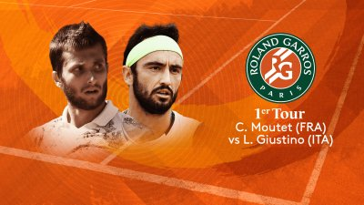 C. Moutet (FRA) vs L. Giustino (ITA) - 1er tour - Court n°14