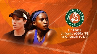 J.Konta (GBR) vs C.Gauff (USA) - 1er tour - Court Suzanne-Lenglen