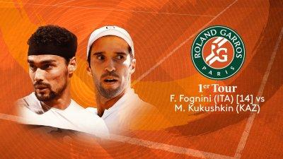 F. Fognini (ITA) vs M. Kukushkin (KAZ) - 1er tour - Court Simonne Mathieu