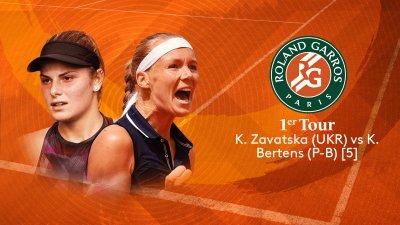 K. Zavatska (UKR) vs K. Bertens (NED) - 1er tour - Court Suzanne-Lenglen