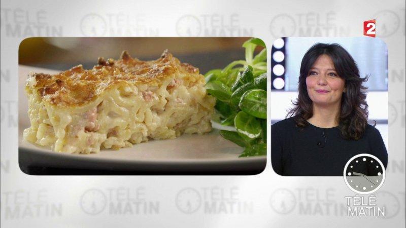 Replay t l matin t l matin gourmand gratin de p tes au foie gras du france 2 - Recette cuisine france 2 telematin ...