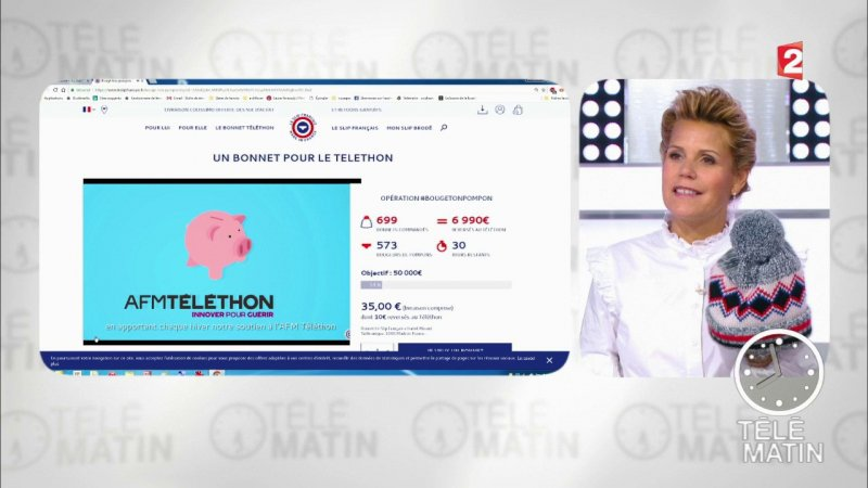 France Télévisions se mobilise pour le Téléthon , France 2 , 09,11,2017