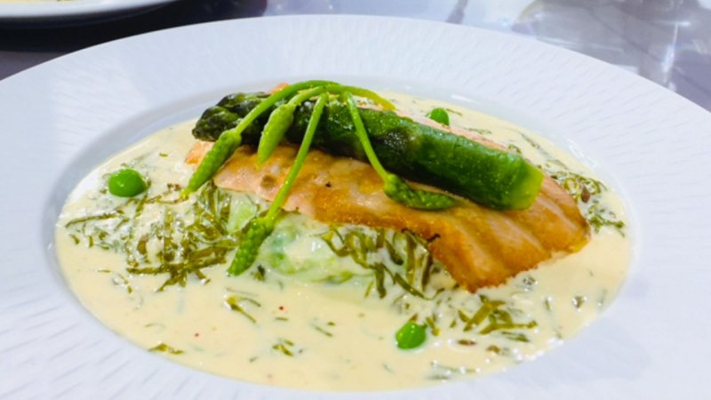 Cuisine saumon l oseille et aux l gumes verts france - C est au programme recettes cuisine france 2 ...