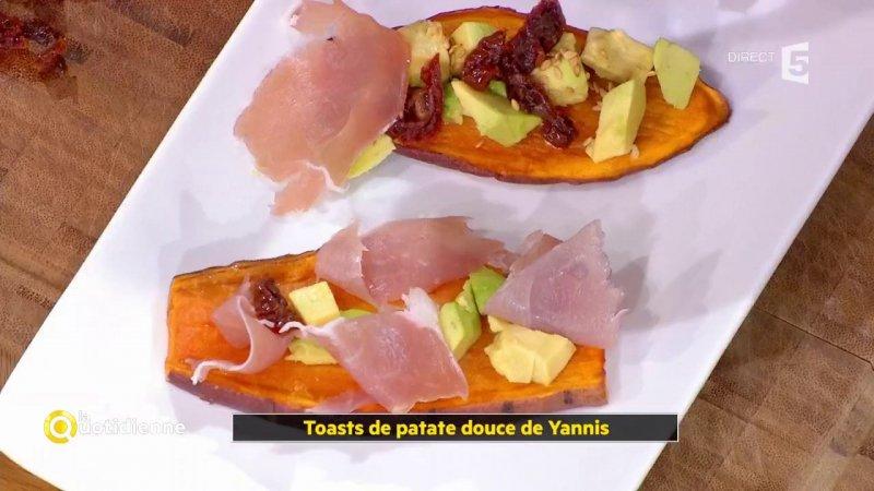 coup d 39 food toasts de patate douce de yannis france 5 06 12 2017. Black Bedroom Furniture Sets. Home Design Ideas