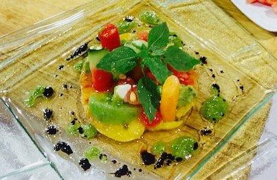 M li m lo de tomates anciennes melon past que et avocat - C est au programme recettes cuisine france 2 ...