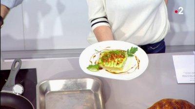 Focaccia au saumon au concombre et la cr me de wasabi - C est au programme recettes cuisine france 2 ...