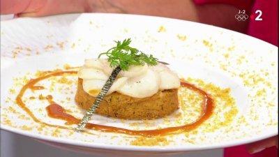 Noix de saint jacques et sabl breton aux champignons - France 2 c est au programme recettes de cuisine ...
